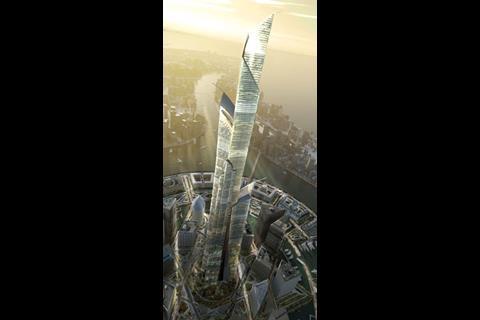 The 1,001m-high Burj Mubarak al-Kabir, part of the $58bn City of Silk in Kuwait